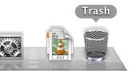empty trash can